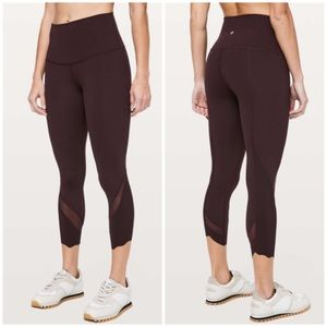 Lululemon Wunder Under Crop Scallop